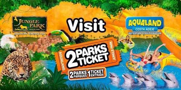 2 Park Ticket Aqualand and Jungle Park Tenerife